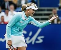 21-6-06,Netherlands, Rosmalen,Tennis, Ordina Open, 2nd round match, Michaella Krajicek heeft plezier tijdens haar partij