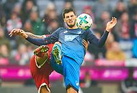 Florian GRILLITSCH, Hoff 11  ,   -  Arturo VIDAL, FCB 23 <br /> FC BAYERN MUENCHEN - TSG 1899 HOFFENHEIM  5-2<br /> Football 1. Bundesliga , Muenchen,27.01.2018, 20. match day,  2017/2018, <br />  *** Local Caption *** © pixathlon<br /> Contact: +49-40-22 63 02 60 , info@pixathlon.de<br /> Contact: +49-40-22 63 02 60 , info@pixathlon.de