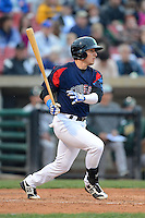 Kane County Cougars outfielder Bijan Rademacher #28 during a game against the Beloit Snappers May 26, 2013 at Fifth Third Bank Ballpark in Geneva, Illinois.  Beloit defeated Kane County 6-5.  (Mike Janes/Four Seam Images)