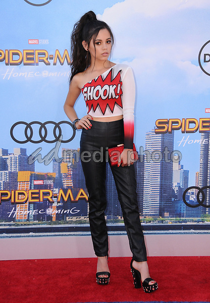 """28 June 2017 - Hollywood, California - Jenn Ortega. """"Spider-Man: Homecoming"""" Los Angeles Premiere held at the TCL Chinese Theatre in Hollywood. Photo Credit: Birdie Thompson/AdMedia"""