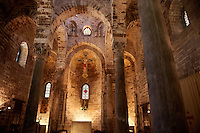Interior of the Cappella di San Cataldo, Norman style Medievalo Church, Palermo, Sicily