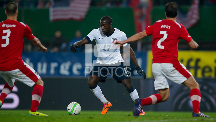 VIENNA, Austria - November 19, 2013: Jozy Altidore during a 0-1 loss to host Austria during the international friendly match between Austria and the USA at Ernst-Happel-Stadium.