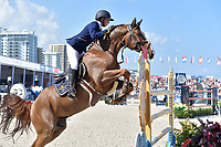 MIAMI BEACH, FL - APRIL 07: Anna Kellnerova at the Longines Global Champions Tour stop day 3 in Miami Beach on April 7, 2018 in Miami Beach, Florida<br /> <br /> People:  Anna Kellnerova