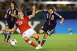 (L to R) Noelle Maritz (SUI), Hanae Shibata (JPN), .AUGUST 26, 2012 - Football / Soccer : .FIFA U-20 Women's World Cup Japan 2012, Group A .match between Japan 4-0 Switzerland .at National Stadium, Tokyo, Japan. .(Photo by Daiju Kitamura/AFLO SPORT) [1045]