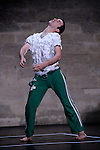 Festival Uzes Danse 2010<br /> BATTERIE<br /> Choregraphie : David Wampach<br /> Avec : David Wampach, Jerome Renault (batterie)<br /> Le 14/06/2010<br /> Jardin de l'Evêché, Uzès<br /> © Laurent Paillier / photosdedanse.com<br /> All rights reserved