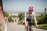 race preparations: Victor Campenaerts (BEL/Lotto-Soudal) at the TT prologue recon ahead of the 102nd Giro d'Italia 2019<br /> <br /> ©kramon