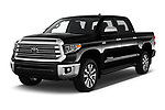 2020 Toyota Tundra Limited-5.7L-Crew-Max-Short-Bed 4 Door Pick-up Angular Front automotive stock photos of front three quarter view