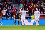 Isco Alarcon of Spain (C) celebrating his score during the International Friendly 2018 match between Spain and Argentina at Wanda Metropolitano Stadium on 27 March 2018 in Madrid, Spain. Photo by Diego Souto / Power Sport Images