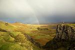 vue du Quiraing, un massif montagneux de l'île de Skye