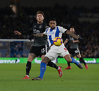 Burnley's Jeff Hendrick (left) battles with Brighton & Hove Albion's Jurgen Locadia (right) <br /> <br /> Photographer David Horton/CameraSport<br /> <br /> The Premier League - Brighton and Hove Albion v Burnley - Saturday 9th February 2019 - The Amex Stadium - Brighton<br /> <br /> World Copyright © 2019 CameraSport. All rights reserved. 43 Linden Ave. Countesthorpe. Leicester. England. LE8 5PG - Tel: +44 (0) 116 277 4147 - admin@camerasport.com - www.camerasport.com