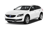 2017 Volvo V60-Cross-Country Summum 5 Door Wagon Angular Front stock photos of front three quarter view