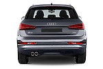 Straight rear view of a 2015 Audi Q3 Sport 5 Door SUV stock images
