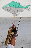 IV Jogos Tradicionais Indígenas do Pará<br /> <br /> Arco e flexa <br /> <br /> <br /> Quinza etnias participam dos  IX Jogos Indígenas, iniciados neste na íntima sexta feira. Aikewara (de São Domingos do Capim), Araweté (de Altamira), Assurini do Tocantins (de Tucuruí), Assurini do Xingu (de Altamira), Gavião Kiykatejê (de Bom Jesus do Tocantins), Gavião Parkatejê (de Bom Jesus do Tocantins), Guarani (de Jacundá), Kayapó (de Tucumã), Munduruku (de Jacareacanga), Parakanã (de Altamira), Tembé (de Paragominas), Xikrin (de Ourilândia do Norte), Wai Wai (de Oriximiná). Participam ainda as etnias convidadas - Pataxó (da Bahia) e Xerente (do Tocantins). Mais de 3 mil pessoas lotaram as arquibancadas da arena de competição.Praia de Marudá, Marapanim, Pará, Brasil.Foto Paulo Santos08/09/2014