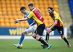 St Johnstone v Partick Thistle…11.02.17     Scottish Cup    McDiarmid Park<br />Graham Cummins holds of Liam Lindsay<br />Picture by Graeme Hart.<br />Copyright Perthshire Picture Agency<br />Tel: 01738 623350  Mobile: 07990 594431