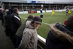 Chorley 2 Altrincham 0, 21/01/2017. Victory Park, National League North. Home supporters watching the action during the first-half at Victory Park, as Chorley played Altrincham (in yellow) in a Vanarama National League North fixture. Chorley were founded in 1883 and moved into their present ground in 1920. The match was won by the home team by 2-0, watched by an above-average attendance of 1127. Photo by Colin McPherson.