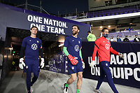 ORLANDO CITY, FL - JANUARY 31: Matt Turner of the United States exits the tunnel before a game between Trinidad and Tobago and USMNT at Exploria stadium on January 31, 2021 in Orlando City, Florida.