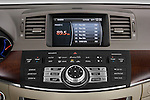 Stereo audio system close up detail view of a 2008 Infiniti M35