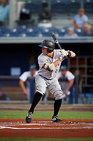 Bradenton Marauders second baseman Mitchell Tolman (6) at bat during a game against the Charlotte Stone Crabs on August 6, 2018 at Charlotte Sports Park in Port Charlotte, Florida.  Charlotte defeated Bradenton 2-1.  (Mike Janes/Four Seam Images)