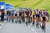 14th July 2021, Muret, France;  Peloton during stage 17 of the 108th edition of the 2021 Tour de France cycling race, a stage of 178,4 kms between Muret and Saint-Lary-Soulan. o