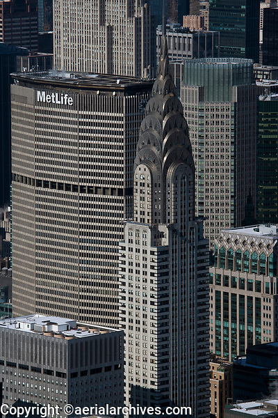 aerial photograph the Chrysler Building and MetLife Building, Manhattan, New York City