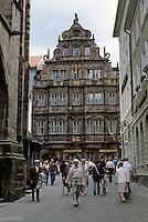 Heidelberg: Knight St. George residence--decorated  facade, 1592. Late Renaissance. Photo '87.