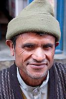 Kathmandu, Nepal.  Nepali Man and Cap.