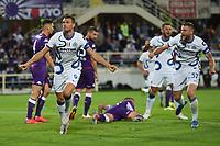 21th September 2021; Stadio Artemio Franchi, Firenze, Italy; Italian Serie A football, AC Fiorentina versus  FC Inter; Edin Dzeko of Inter celebrates after his goal for 1-2 in minute 55