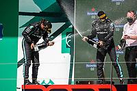 HAMILTON Lewis (gbr), Mercedes AMG F1 GP W12 E Performance, portrait, podium with BOTTAS Valtteri (fin), Mercedes AMG F1 GP W12 E Performance during the Formula 1 Heineken Grande Prémio de Portugal 2021 from April 30 to May 2, 2021 on the Algarve International Circuit, in Portimao, Portugal <br /> FORMULA 1 : Grand Prix Portugal - Essais - Portimao - 02/05/2021 <br /> Photo DPPI/Panoramic/Insidefoto <br /> ITALY ONLY