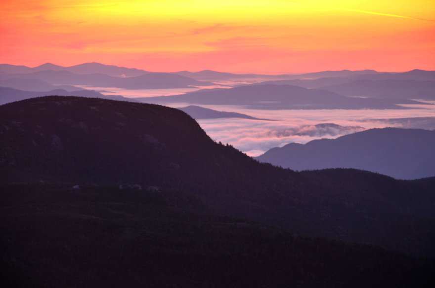 Dawn comes in color to the eastern White Mountains.
