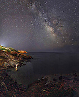 The Milky Way from a coast of cape Sounion in Greece