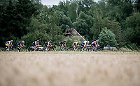 Dutch Champion Fabio Jakobsen (NED/Deceuninck - QuickStep) leading the pack<br /> <br /> the inaugural GP Vermarc 2020 is the very first pro cycling race in Belgium after the covid19 lockdown of Spring 2020 & which was only set up some weeks in advance to accommodate belgian teams by providing racing opportunities asap after the lockdown allowed for racing to restart (but still under strict quarantine / social distancing measures for the public, riders & press)<br /> <br /> Rotselaar (BEL), 5 july 2020<br /> ©kramon