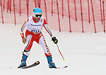 14/03/2014. Canadian Erin Latimer competes in the women's super combined standing event at the 2014 Sochi Paralympic Winter Games in Sochi.(Photo: Scott Grant/Canadian Paralympic Committee)