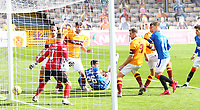 27th September 2020; Fir Park, Motherwell, North Lanarkshire, Scotland; Scottish Premiership Football, Motherwell versus Rangers; Cedric Itten of Rangers makes it 5-0 from close to goal in the 80th minute of the match