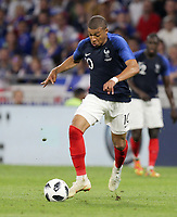 Lyon, France - Saturday June 09, 2018: Kylian Mbappé during an international friendly match between the men's national teams of the United States (USA) and France (FRA) at Groupama Stadium.