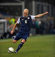 GENOVA, ITALY - February 29, 2012: Michael Bradley (USA) during the USA friendly match against Italy at the Stadium Luigi Ferraris in Genova, Italy.