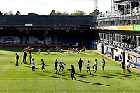 4th May 2021; Kenilworth Road, Luton, Bedfordshire, England; English Football League Championship Football, Luton Town versus Rotherham United; The Luton Town players during the warm up