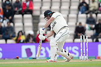 Colin de Granhomme, New Zealand drives the first ball after lunch through extra cover for four runs during India vs New Zealand, ICC World Test Championship Final Cricket at The Hampshire Bowl on 22nd June 2021