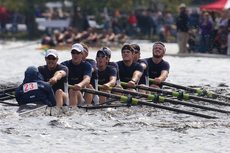 Rowing, Charles River, Cambridge, Boston, Colby College, Men's Crew, Collegiate Eights Men, Rowing, 2006 Head of the Charles Regatta, Massachusetts, USA,