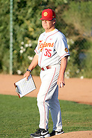 Tom House, pitching coach - University of Southern California Trojans against the Arizona State Sun Devils at Packard Stadium, Tempe, AZ - 04/16/2010.Photo by:  Bill Mitchell/Four Seam Images.