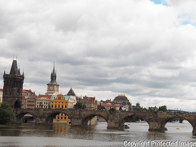 The Charles Bridge connects Old Town with Mala Strana. It dates back to 1357. It is adorned with 30 statues of saints and personages