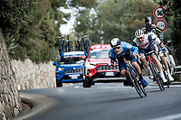 Mathias Norsgaard (DEN/Movistar) tucked in the breakaway group<br /> <br /> 112th Milano-Sanremo 2021 (1.UWT)<br /> 1 day race from Milan to Sanremo (299km)<br /> <br /> ©kramon