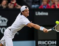 Netherlands, Den Bosch, 19.06.2014. Tennis, Topshelf Open, Joao Sousa (POR)<br /> Photo:Tennisimages/Henk Koster