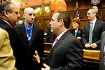 HARTFORD, CT- 03 JANUARY 07- 010307JT19-<br /> State Rep. Jeffrey Berger, D-73rd District, on the opening day of the General Assembly's 2007 session at the Capitol in Hartford.<br /> Josalee Thrift Republican-American