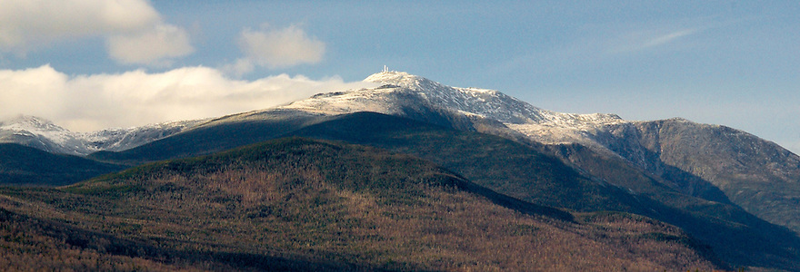 Snow comes early to the high Presidential Range, including it's highest peak, Mount Washington.