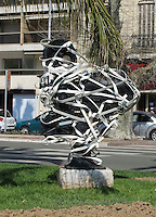 Scupture outside the Palais des Festivals et des Congres, Cannes, France.