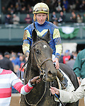 October 4, 2014:  Leigh Court and jockey Gary Boulanger win the Thoroughbred Club of America at Keeneland for owner Melnyk Racing Stable and trainer Josie Carroll .Jessica Morgan/ESW/CSM