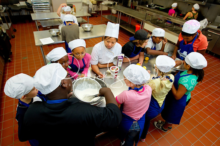 In Chef's Choice, an innovative culinary and baking program at Johnson & Wales University's Charlotte NC Campus, professional chef instructors give children hands-on instruction during summer camps and Saturday programs. The five-day, five-hour summer camp program for children 10 to 16 years old combined culinary education, skill development, hands-on cooking and demonstrations in the college's professional kitchens.