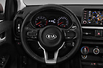 Car pictures of steering wheel view of a 2017 KIA Picanto Fusion 5 Door Hatchback