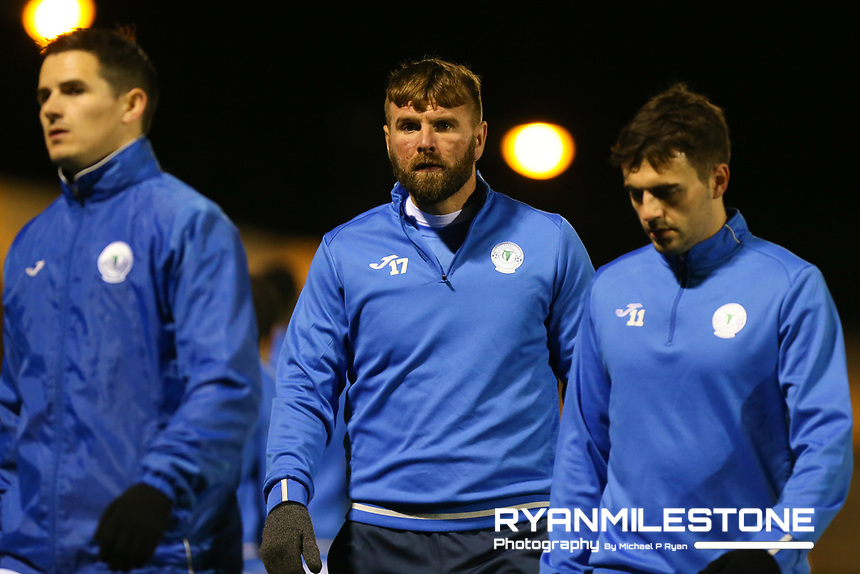 Paddy McCourt of Finn Harps during the warm up ahead of the SSE Airtricity League Promotion / Relegation Play-off Final 2nd leg game between Limerick and Finn Harps on Friday 2nd November 2018 at Markets Field, Limerick. Mandatory Credit: Michael P Ryan.