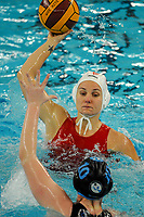 20200126 - GENT, BELGIUM : Gentse's (4) Sylvie Den Blauwen pictured during the waterpolo game Gentse KGZV and Eeklo MVZ , waterpolo game between Gentse KGZV and Eelko MVZ , at swimming pool Strop in Gent , saturday 1 th February 2020 . PHOTO SPORTPIX.BE | STIJN AUDOOREN
